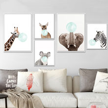 Nordic Baby Animal Zebra Girafe Poster Wall Artwork Print Canvas Painting Modular Picture Children Nursery Bedroom Decoration(China)