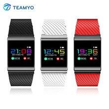 Teamyo X9 Pro Smart Band Часы Приборы для измерения артериального давления сердечного ритма Мониторы смарт-браслет с цветной экран Шагомер Фитнес трекер