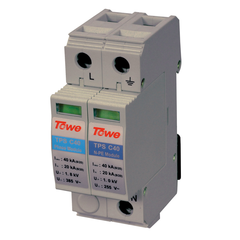 TOWE AP C40 1P+N Single-phase Overvoltage Protector,1+1 Protect Mode With NPE Overvoltage Protector