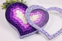 100ชิ้นกระดาษหอมกุหลาบสบู่อาบน้ำชุดความคิดสร้างสรรค์ของขวัญแต่งงานHeartedรูปร่างกุหลาบดอกไม้...