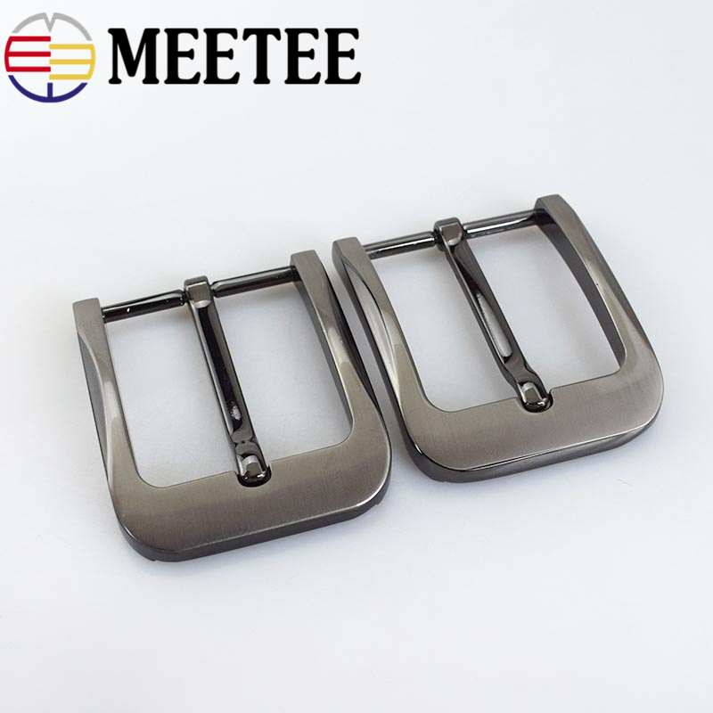 Meetee 40mm Width DIY Leather Craft Hardware Pin Buckle Belt Buckles Brushed Metal Fashion Mens Womens Jeans Accessories ZK894