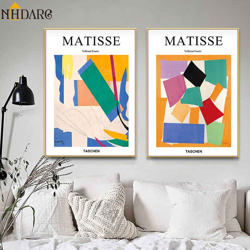 Matisse Vogue Posters And Prints Abstract Geometric Colorful Wall Art Canvas Painting Pictures For Living Room Home Decor