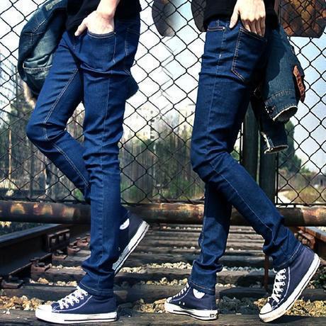 2015 Korean Version Of Deep Blue Jeans Men's Casual Pants Men Robin Jeans