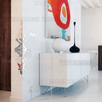 Sagittarius Bow Shaped Mirror Edge Corner Guards 3d 3d Reflective Sticker Wall Decor Acrylic Mirrored Decoration