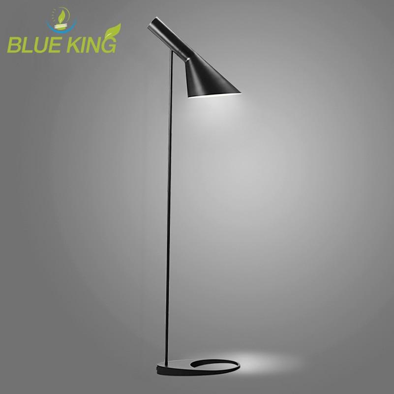 Post modern Design Adjustable AJ Floor Lamp Black White Metal Stand Light for Living Room Bedroom E27 LED Bulb насос для воды grundfos ups 50 120 f