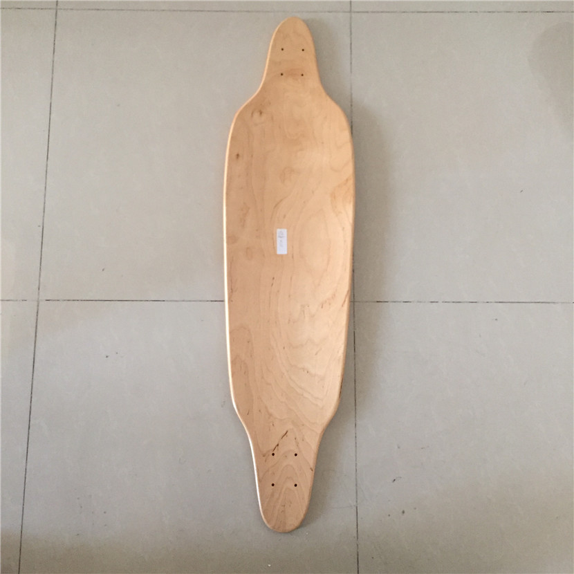 Wholesale  OEM Blank Skateboard Deck Maple 39 3/8 Longboard Flat-Plate Deck  DIY Patterns Decks 8 Layers