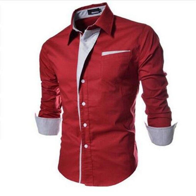 Hight Qualité 2017 Nouvelle Marque Hommes Robe Chemises Hommes Rayé chemise Slim Fit Chemise Homme À manches Longues Hommes Chemise Heren Hemden