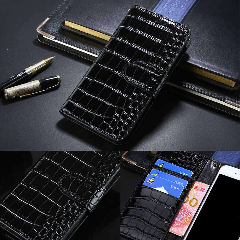 Luxury Crocodile Leather Flip Cover Case for LG K8 Wallet Phone Bag Coque With Card Holder for LG K8 Case Fundas with Botton