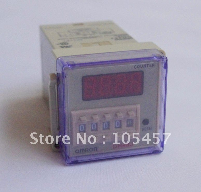 110VAC digital preset counter relay 1-999900 LED display 8 pin panel installed DH48J SPDT