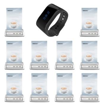 Singcall Беспроводной вызова Системы ресторан пейджер Системы S 1 водонепроницаемые наручные мобильный приемник и 10 белый стол call пейджеры