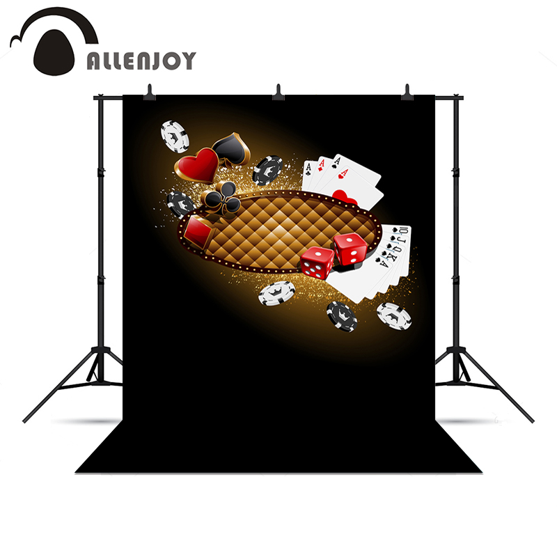 Allenjoy photography backdrops glitter chips dice poker casino photo backdrop background vinyl for a photo shoot 50 clay composite striped dice 11 5 gram poker chips by brybelly