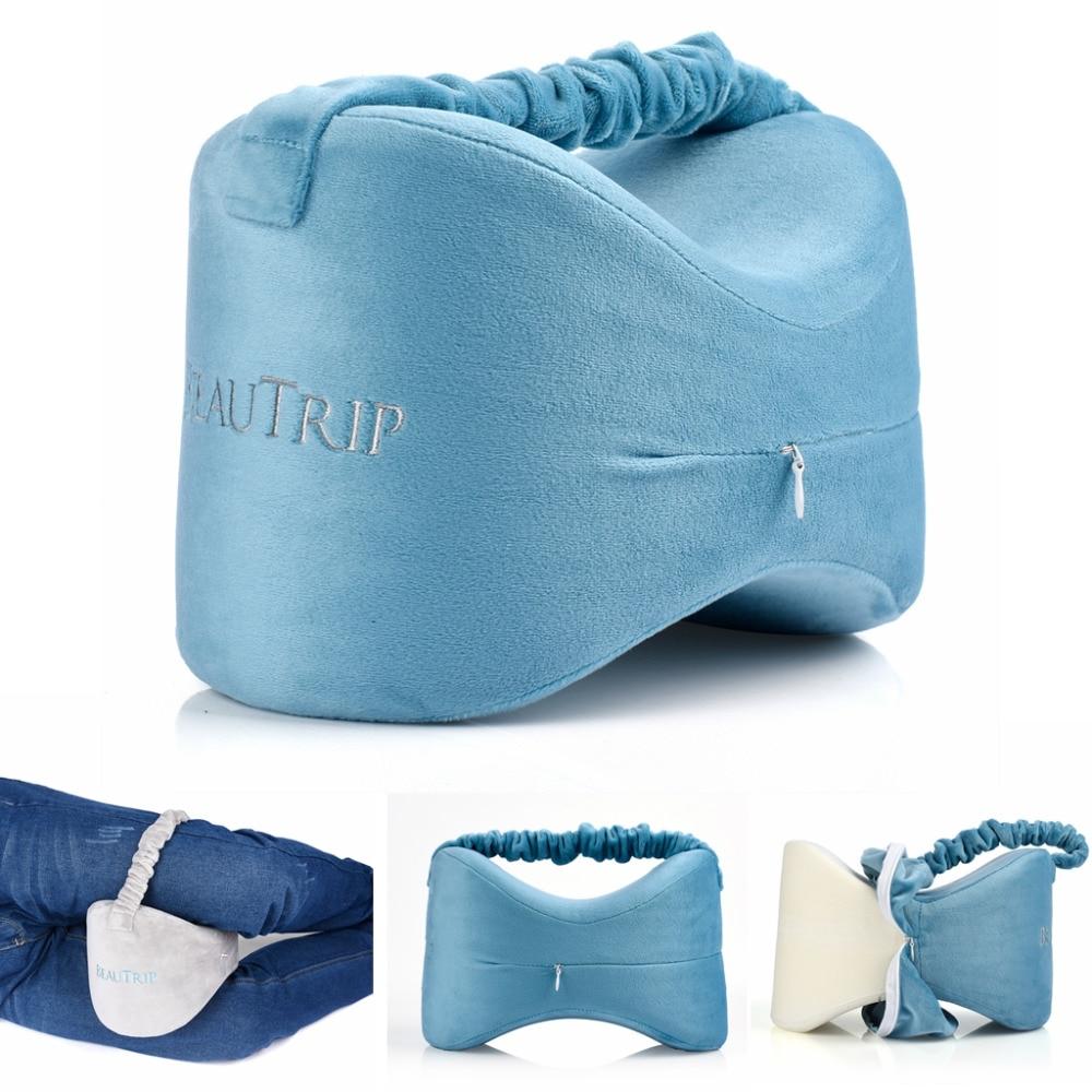 Memory Foam Knee Pillow Leg Cushions Side Sleeper Body