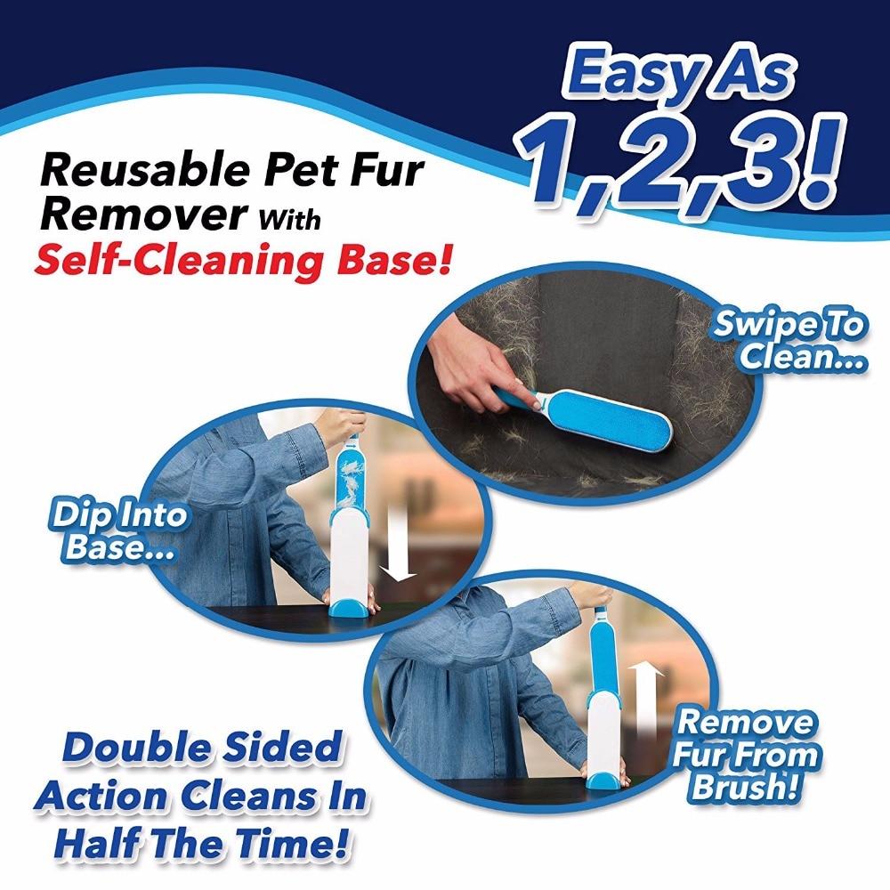 Hurricane Fur Wizard Reusable Self-Cleaning Pet Fur Brush Set Double-Sided Hurricane Fur Scrub Pet Brush Pet Products