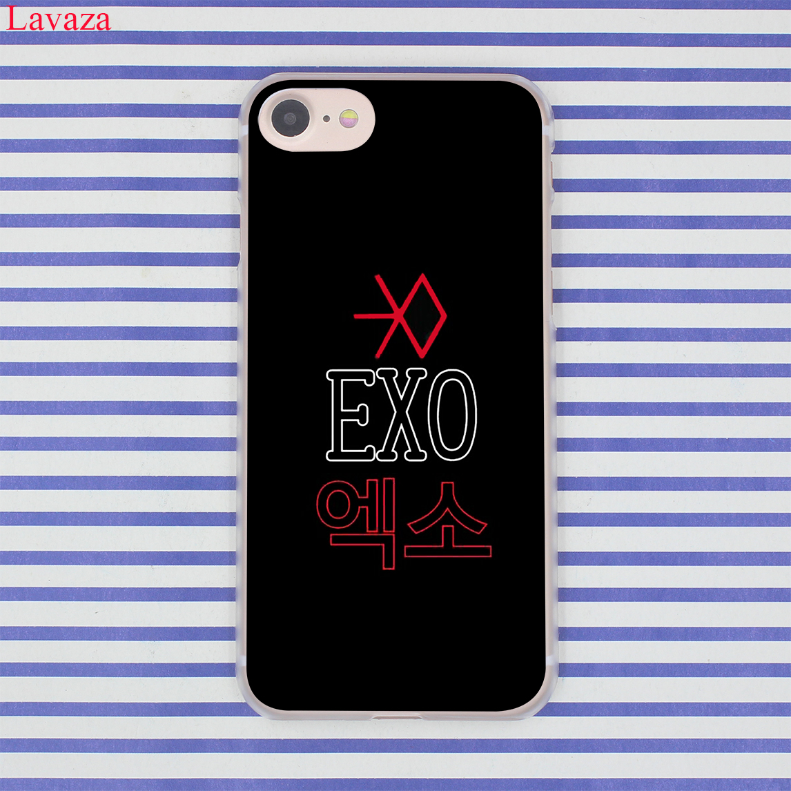 lavaza kpop exo lucky one hard coque shell phone case for apple iphone 8 7 6 6s plus x 10 5 5s. Black Bedroom Furniture Sets. Home Design Ideas
