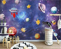 beibehang Dream fashion 3d wallpaper Nordic hand-painted sky universe children's room background wall papers home decor painting