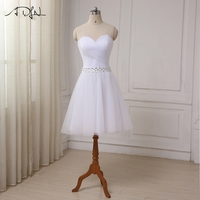 ADLN Robe De Mariage Cheap Short Wedding Dress Sexy Sweetheart Tulle Bridal Wedding Gown Little White Dress Real Sample