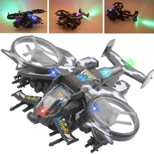 Kids Flashing Electric Combat Aircrafts Kids Music Puzzle Toys Universal wheel music Star Mirage Fighter toy