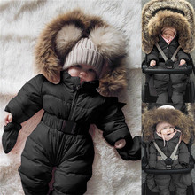 Winter Infant Baby Boy Girl Romper Jacket Hooded Jumpsuit Wa