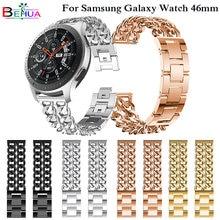 Ремешок сменный для samsung galaxy watch 46 мм роскошный металлический