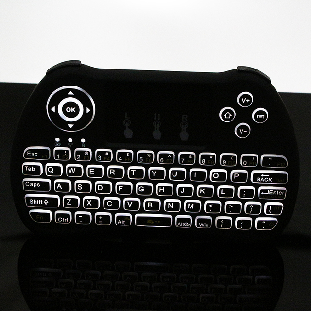 24g Mini Wireless Keyboard Backlight Mouse Remote Control For