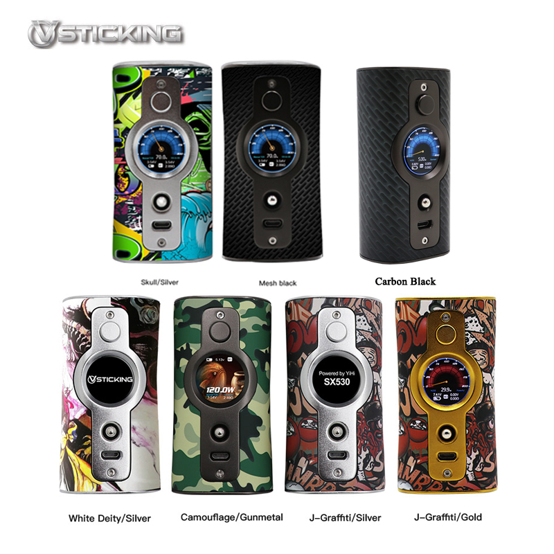 Vstick VK530 200 W TC Box Mod double batterie Cigarettes électroniques Mod Max 200 w vaporisateur contrôle de température Vape SS316 Ni Ti