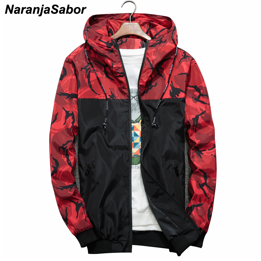NaranjaSabor Spring Autumn Men's Jackets Camouflage Military Hooded Coats Casual Zipper Male Windbreaker Men Brand Clothing N434 1