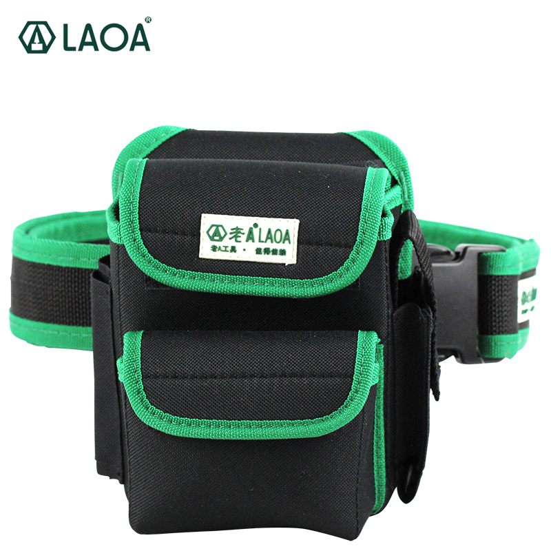LAOA Multifunction Tool Bag 600D Double Layers Oxford Fabric Repair Bags Waist Pack Bag For Electrician Household With Belt