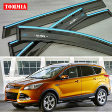 Brand New For Ford KUGA Window Visor Shade Vent Wind Rain Deflector Guards Cover 4pcs/Set