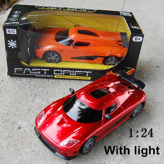 Free Shipping 1 24 Scale High Simulation Koenigsegg Mini Remote Control Car Model Electric Rc Radio Toy Children Cars Toys