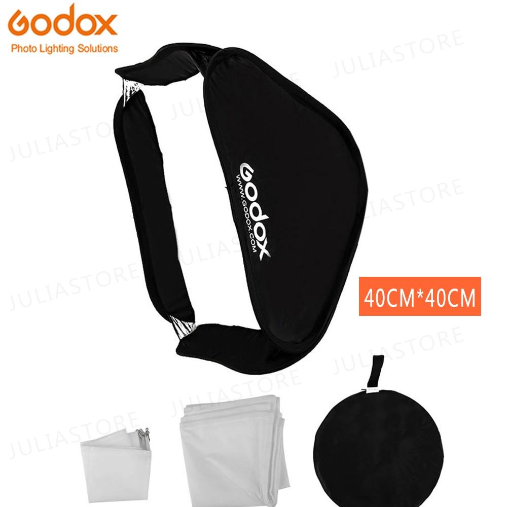 Godox Softbox 40x40 Cm Diffuser Reflector For Speedlite Flash Light Professional Photo Studio Camera Flash Fit Bowens Elinchrom