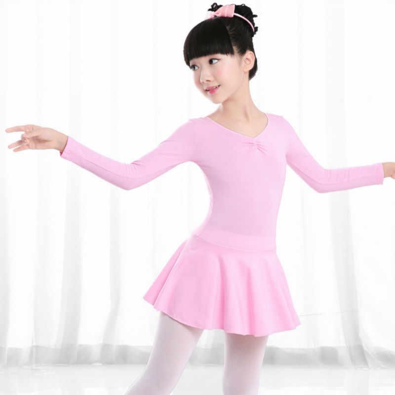 Swan Lake จังหวะแขนยาวยิมนาสติก leotard สำหรับสาวบัลเล่ต์เด็กการแข่งขันเต้นรำเด็ก Tutu กระโปรงชุด