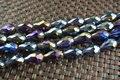 60 unid por línea 9 x 11 m color del arco iris facetado cristal crystal Tear perlas de gota para la fabricación de joyas moda