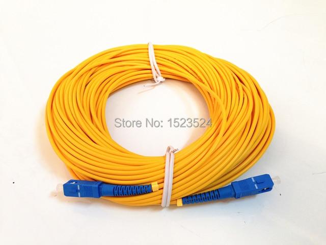 Free Shipping SM SX 3mm 30M 9/125um 30 Meters Fiber Optic Jumper Cable SC/UPC-SC/UPC Fiber Optic Patch Cord