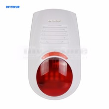 DIYSECUR LB-W03 Wireless Flash External Siren for Our Related Home Alarm Home Security System 433Mhz Strobe Siren