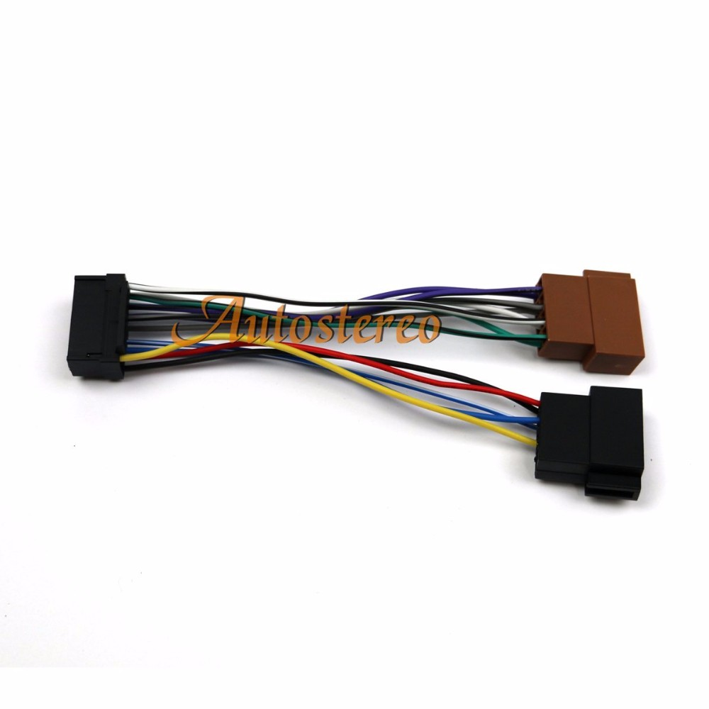 us $7 18 10% off iso harness standard car audio iso female connector cable harness connector for radio for sony cd; jvc 16 pin (30x12mm) 15 109 in Gm Radio Wiring Harness Adapter Sony single din car stereo receiver