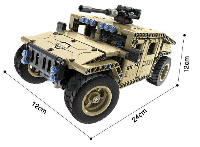 New Remoter control block RC Armed Hummer Car fit Technic Military city Remote Control Building Block Brick diy Toy kid in Blocks from Toys Hobbies