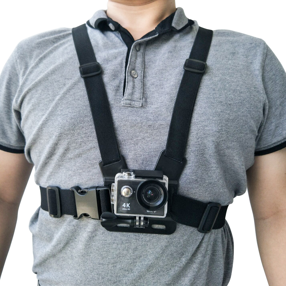 Chest mount harness for action camera
