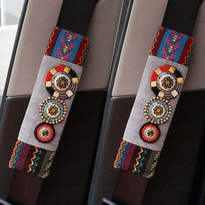 2pcs-Bohemia-Car-Seat-Belt-Shoulder-Pads-Set-Auto-Safety-Belt-Cover-Cotton-and-linen-2