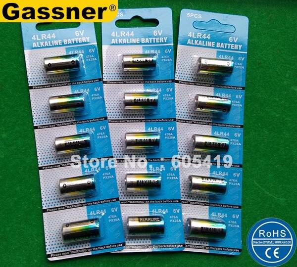 2400 шт./лот (480 карт) 4AG13 <font><b>4A76</b></font> 4LR44 6 В щелочных батарей, ошейник, красота ручка батареи 4LR44 ячеек
