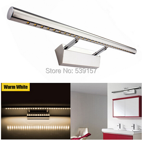 цена на DHL Free shipping 9W With Switch LED Mirror Light for Hotel Bathroom/Washroom Wall Spot Light 85-240V Waterproof led wall light