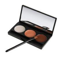 Professional Concealer Palette 3 Color Concealer Facial Face Cream Care Camouflage Makeup base Palettes Cosmetic