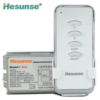 High Quality 2 Loop Wireless Lamp Remote Control Switch 220V 1000W 20 Meters Distance Smart Power