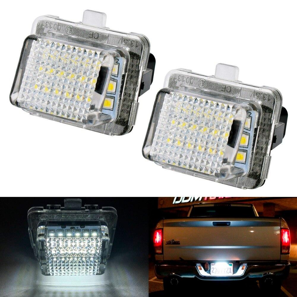 2XCanbus 18LED License plate light number plate lamp for Benz W204 2D/4D W205 W216 W218 W212 11~ W221 W231 R231 W222 13~ CLA 13~ number 11