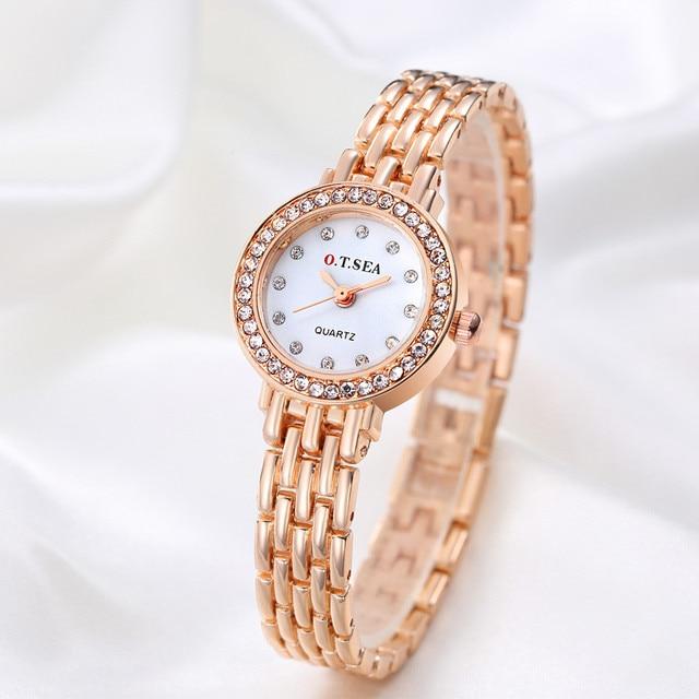 Luxury Brand Bracelet Watches XR1671-1 Women Rose Gold Quartz Watch For Women Rh