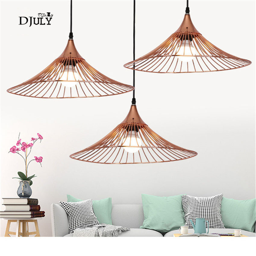 postmodern rose gold straw hat metal pendant lights for living room kitchen bar industrial hanging lamp loft decor fixtures e27postmodern rose gold straw hat metal pendant lights for living room kitchen bar industrial hanging lamp loft decor fixtures e27