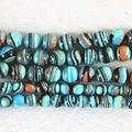 Azul turquesa malaquita sintética piedra 6mm 8mm 10mm 12mm ronda de bricolaje joyería de los granos flojos envío gratis 15 pulgadas B506