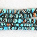 Blue synthetic malachite turquoise stone 6mm 8mm 10mm 12mm round diy jewelry loose beads free shipping 15inch B506