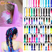 MEIFAN synthétique Ombre Jumbo tressage cheveux Crochet tresses coiffures Extensions de cheveux mèches colorées tresses pour tissage de cheveux
