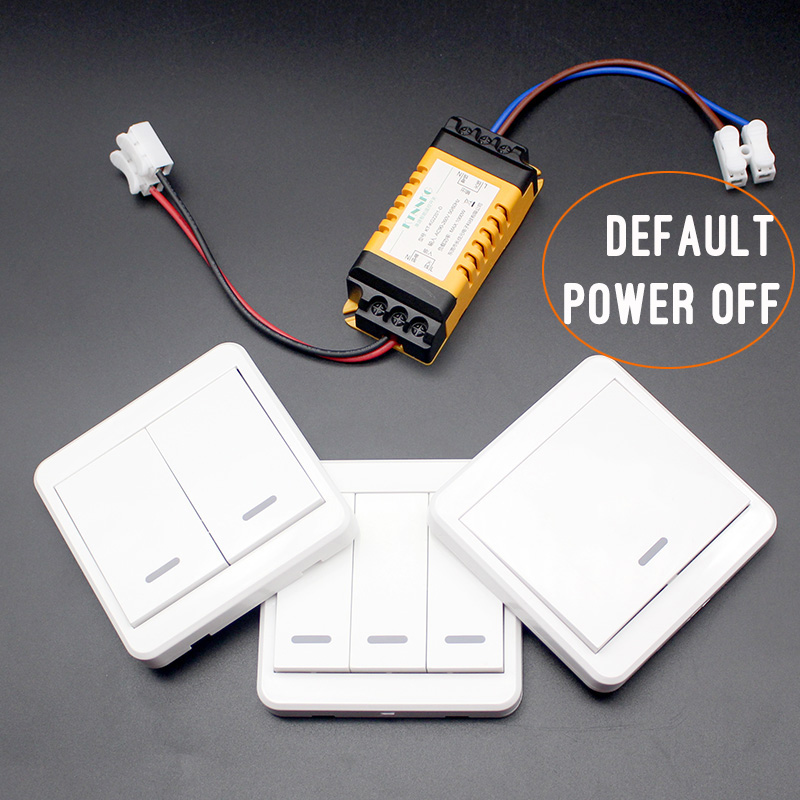 default off wireless light switch kit no wiring remote control timer  receiver for lamps fans appliances ceiling lights 433mhz-in remote controls  from