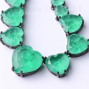 Image 2 - Newranos Hart Kristal Ketting Blauw Natuurlijke Fusion Stone Choker Ketting Voor Vrouwen Mode sieraden NFX0013124